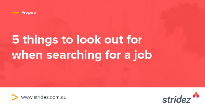 5 Things to Look out for when Searching for a Job