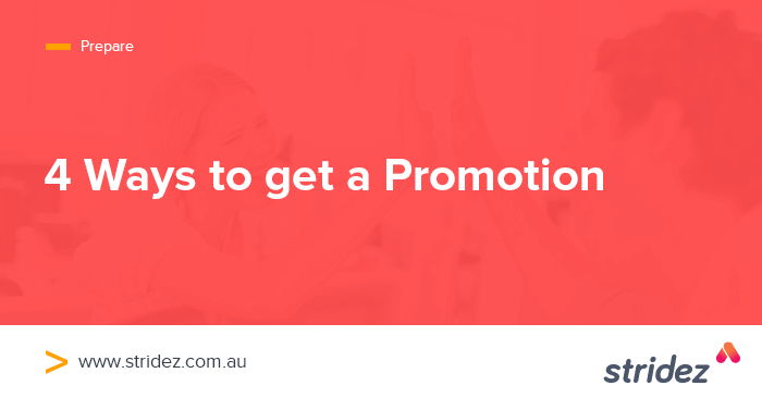 4 Ways To Get A Promotion